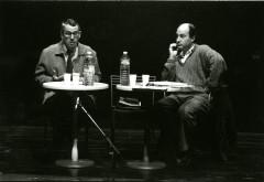 """Conférence de Marc Touché pendant le 1er festival """"Plein La Tête"""" le 8 novembre 1995."""