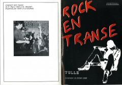 Programme du festival Rock en Transe organisé par l'association Rock à la Grange en 1989.