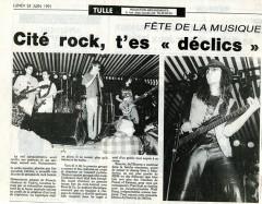 Article de presse du lundi 24 juin 1991.