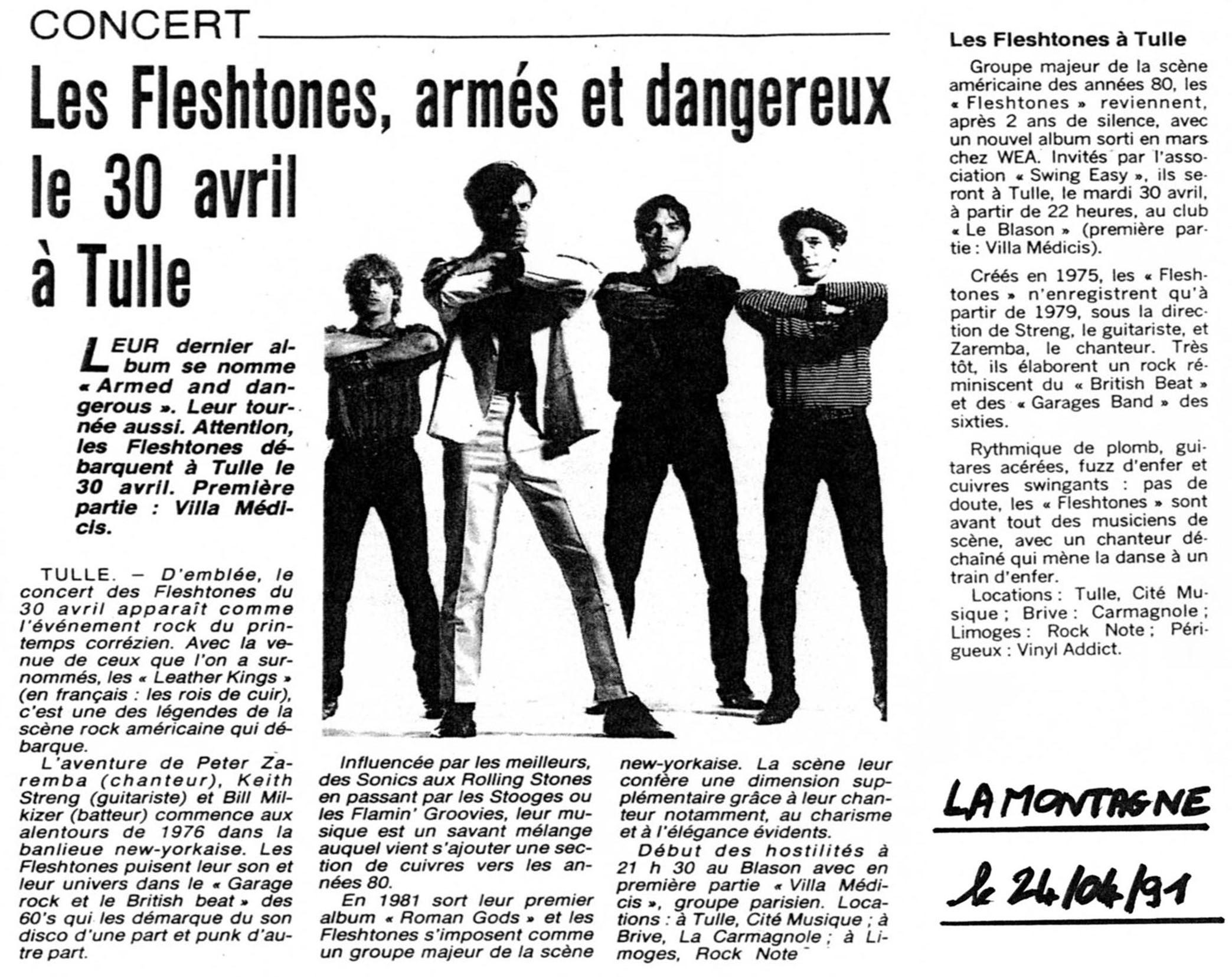 Annonce presse - les Fleshtones