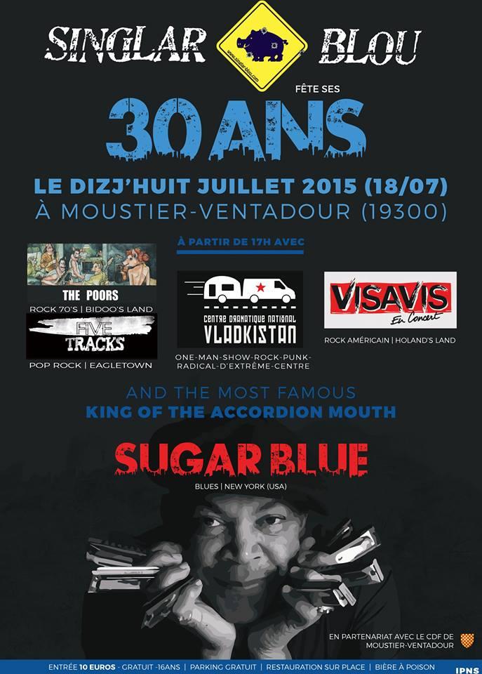 L'affiche des 30 ans des Singlar Blou