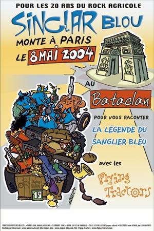 L'affiche des 20 ans des Singlar Blou au Bataclan