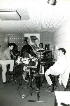 Studio de répétition du groupe Wolfgang situé rue Anne Vialle à Tulle.