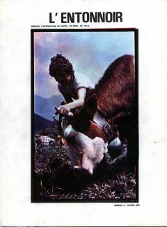 Couverture du Fanzine l'Entonnoir, mensuel d'information du Centre Culturel et Sportif de Tulle, février 1980.